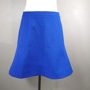J. Crew | Blue Skirt Midi Flare